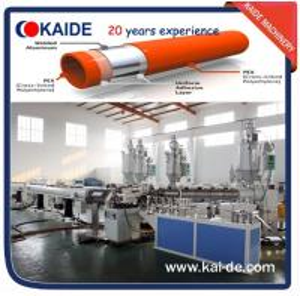 China Plastic pipe extrusion line for PPR-AL-PPR/PERT-AL-PERT/PEX-AL-PEX pipe overlap welding wholesale