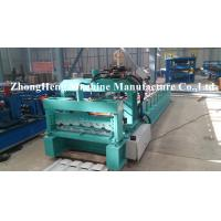 China Galvanized / Aluminum Roof Sheet Glazed Tile Roll Forming Machine with two models on sale