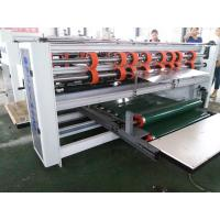 Corrugated Carton Folder Gluer Machine Double Pieces Box Flexo Printing