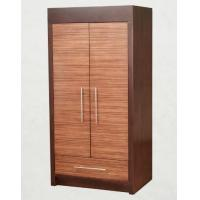 China Wooden Two Door Wardrobe Storage Closet With Drawers For Hotel Bedroom wholesale