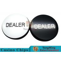 China Texas Sculpture Poker Blind Buttons With Black And White Double - Sided Design wholesale