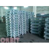 China Stacking Collapsible Steel Wire Mesh Pallet Cage For Warehouse Storage wholesale