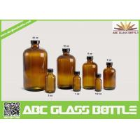 China 20/410 Neck 120ml Amber Boston Round Bottle With Phenolic Cap wholesale