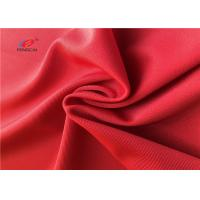 China Swimming Stretch Polyester Spandex Fabric , Red Color Polyester Lycra Fabric on sale