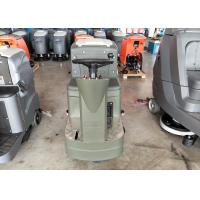 China Ride On Type Internal Battery Powered Floor Scrubber In Grey Color With Double Brushes wholesale