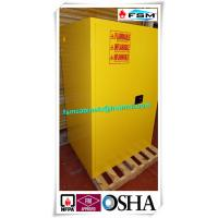 Quality Three Layers Grounding Flammable Gas Storage Cabinets 60 GAL for Chemical for sale