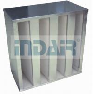 China Plastic V Cell Terminal HEPA Filter , Low Pressure Drop V Bank HEPA Filter wholesale