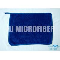 China Blue 30 * 40  microfiber dish towels , weft twist Ultra Thick Plush Fleece cleaning microfiber cloth wholesale
