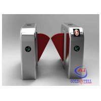 China Slide Gate Flap Barrier Turnstile Retractable Wings With Face Recognition System wholesale