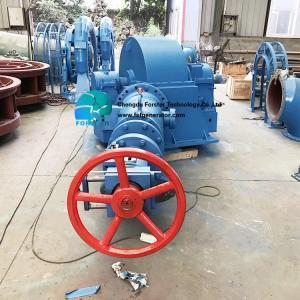 China 600kw Inclined Turgo Hydro Generator , Small Water Turbine Generator 75-1000 Kw on sale