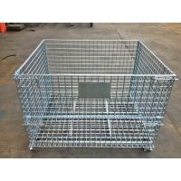 China Industrial Stackable Welded Steel Wire Mesh Pallet Cage For Warehouse Storage wholesale