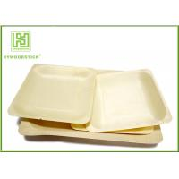 Buy cheap 3.5 Inch Wooden Biodegradable Plates , Small Square Dinner Plates For Dessert from wholesalers