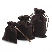China Luxury Suede Drawstring Jewelry Pouch Pantone Color With Embroidery Logo wholesale