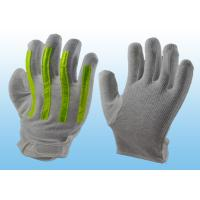China Interlock Finger Reflective Gloves For Directing Traffic , Cotton Hand Gloves Velcro Type wholesale