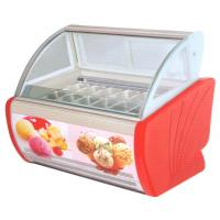 China 4 trays - 20 trays Countertop Ice Cream Display Freezer , Gelato Freezer Display wholesale