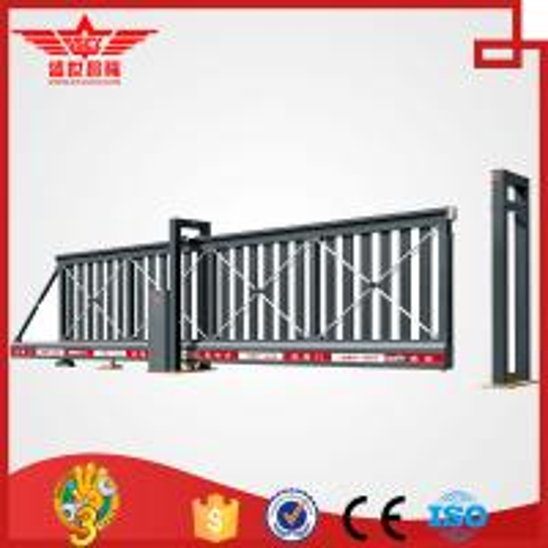 Quality sliding gates basic kombi cantilevered made of aluminum L1502 for sale