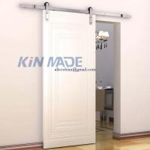 China Modern Barn Door Sliding Single Door Hardware Track Kits 304 on sale