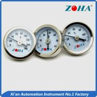 China 25mm High Temperature Dial Thermometer / Pipe Mount Bimetallic Coil Thermometer wholesale