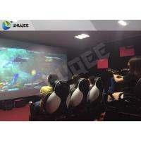 China Flat Screen 7D Cinema System With Cabin For Amusement Adventure Park wholesale