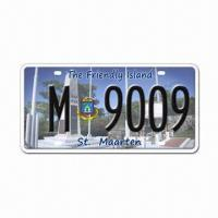 China Security License Plate with Laser Watermark and Hot-stamping Foil wholesale