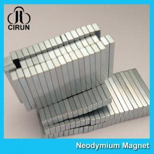 China 12000 Gauss Super Strong Neodymium Magnet Bar Shaped Anti - Corrosion wholesale