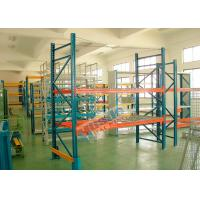 China Double Deep Pallet Racking System For Warehouse , Each Level Adjustable Pallet Racking Box Shape Beam wholesale