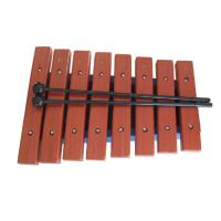 China Red Wood Xylophone Toy Musical Instrument 8 Tunes Percussiion Toy wholesale