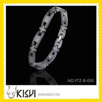 Quality fashion tungesten steel bracelet germanium/magnet link bracelet for sale