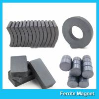 China Industrial Sintered Permanent Ceramic Ferrite Magnet Block Ring Disc Arc Shaped wholesale