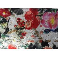 China Traditional Painting White Velvet Fabric Microfiber Velvet Fabric 145cm Width wholesale