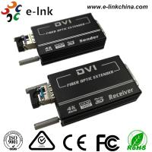 China Mini 4K * 2K DVI Fiber Transceiver  SM10-80KM  Default 1.4km , EDID Support, 1 SFP + Port wholesale