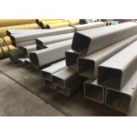 China Large Seamless 2 Inch Square Steel Tubing , Logo Printed SS Square Pipe on sale
