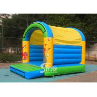 China 5x4 mts outdoor Let's party kids inflatable bouncy castle made with 610g/m2 pvc tarpaulin wholesale