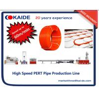 China 60m/min PERT Heating Pipe Extrusion Line with automatic pipe coiler wholesale