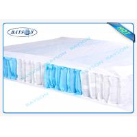China 70 Gram White / Blue Color 47cm Width PP Non Woven Fabric For Box Spring Cover wholesale
