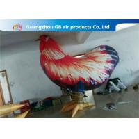 China Outside Standing Inflatable Cartoon Characters PVC Rooster Animal Cock Model wholesale