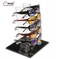 China Tabletop Acrylic Eyewear Display Rack For Brand Shop 5 Pairs Sunglasses Promotion wholesale
