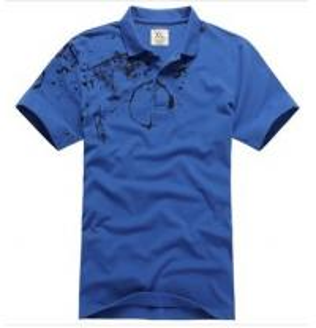 China Ink Footprint Quick Dry Mens T Shirts , Cotton Short Sleeve Mens Summer T Shirts on sale