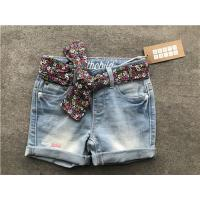 Buy cheap Popular Light Wash Denim Shorts / Stretchy Jean Shorts With Printed Woven Fabric from wholesalers