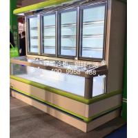 Quality Supermarket Combination Freezer Cooler / Frozen Display Showcase For Hotel for sale