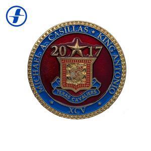 China Plating Soft Enamel Custom Souvenir Coins Brass / Zinc Alloy / Iron Material wholesale