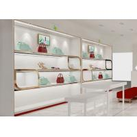 China Beautiful Adjustable Wood Shelving / Shoe Wall Display For Lady Shoe Mall wholesale