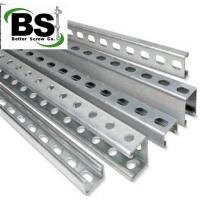 China C and U Slotted Perforated Galvanized Steel Strut Channel on sale