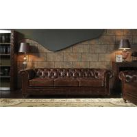 Buy cheap Oversized Top Grain Leather Sofa, Modern 3 Seater Leather Sofa BrownLong Lifespan from wholesalers