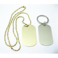 China Zinc Alloy Stainless Steel Dog Tags , Aluminum Material Custom Engraved Dog Tags wholesale