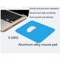 China Light Weight Silver Color Gaming Mouse Pads Durable with Rubber Backing wholesale