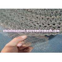 China Crimped / Flat  Monel 400 Knitted Mesh Silver White For Oil - Gas Separation wholesale