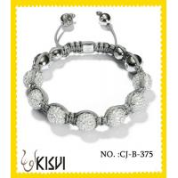 China 2012 new design white beaded crystal bracelets for men, women, unisex wholesale