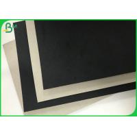 China Rigid Box Material 1.5mm 2mm Thick Black Clay Straw Grey Cardboard Paper wholesale