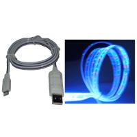 China Clear Flat  Multicolor Glowing Optical Cable To 8 Pin Cable for IPhone5/iPad4/iPad Mini wholesale